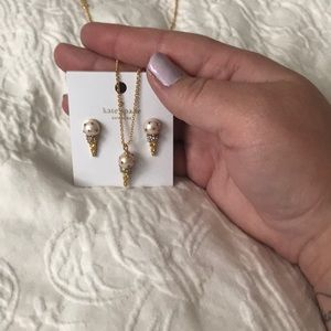 Kate Spade New York Ice Cream Necklace & Earrings